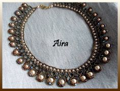FREE Kristine Necklace Pattern featured in Bead-Patterns.com Newsletter! Check it out for more FREE Beading patterns!