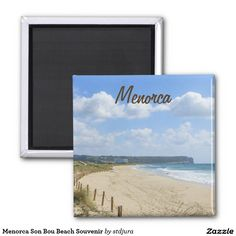 Shop Menorca Son Bou Beach Souvenir Magnet created by stdjura. Beach Souvenirs, Round Magnets, Menorca, Paper Cover, Sons, Recycling, Prints, Beach Keepsakes, My Son