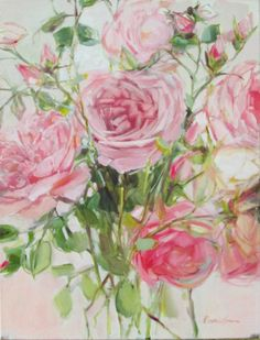 Available in Store - x - Inside Out Home Boutique Oil Painting Flowers, Rose Paintings, Beautiful Artwork, Pink Roses, Floral Wreath, Watercolor, Image, Boutique, Decoration