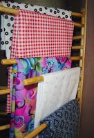 Trouser organizer for sewing fabric