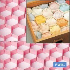 8 Dividers Honeycomb Drawer Clapboard Partition Closet Cabinet Storage Organizer