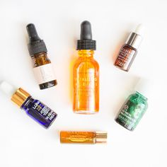 Wondering what the hype is with facial oils? Here are six different blends to compare and contrast, as well as some helpful tips on how to use them!