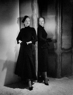 Marlene Dietrich and her daughter Maria Riva by Horst P. Horst, 1947