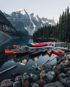 ***Moraine Lake (Banff, Alberta) by Tom Parker (@tomparkr) on Instagram Banff Alberta, Tom Parker, Moraine Lake, Landscape Photography, Places To Go, River, Mountains, Big, Outdoor