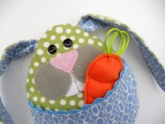PDF Pattern and Instructions for Little Bunny Boo Boo, Rice Bag, Tooth Pillow, Easter Plushie. $5.00, via Etsy.