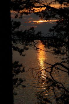 Sunset at Oulujärvi