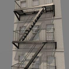 3D Escape Stair Systems Model - 3D Model