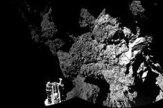 Esta es la primera foto desde la superficie del cometa  #Philae #Ciencia