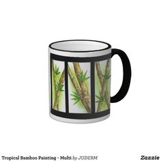 Tropical Bamboo Painting Coffee Mugs. GET IT HERE http://www.zazzle.com/tropical_bamboo_painting_multi_coffee_mug-168510342175334205