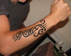 Tribal Henna Tattoo For Men Tribal man's arm henna- henna