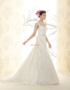 Ékszer Elegáns és luxus Csipke Menyasszonyi ruhák 2015