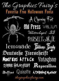 Frightfully Good Free Halloween Fonts Fall holidays will be here before you know it! We've put together some of the creepiest {free} fonts out there for Halloween! These fonts would work rea… Halloween Fonts, Holidays Halloween, Halloween Diy, Halloween Cards, Halloween Clothes, Halloween Designs, Halloween Images, Halloween Projects, Costume Halloween