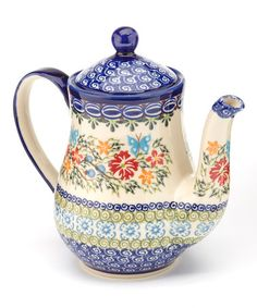 Take a look at this Garden Floreng Teapot by Lidia's Polish Pottery on #zulily today!
