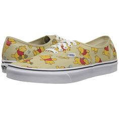 Vans Disney Authentic Donald Duck/Navy) Skate Shoes ($60) ❤ liked on Polyvore featuring shoes, sneakers, navy shoes, light weight shoes, navy sneakers, vans trainers y grip trainer