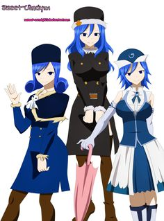 Three Faces Of Juvia by ~Sweet-Candy101 on deviantART