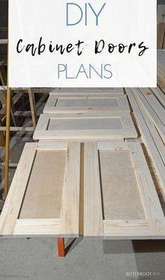 Shaker Cabinet Doors, Diy Cabinet Doors, Cabinet Plans, Diy Cabinets, Building Cabinet Doors, Building Drawers, Kitchen Cabinets, Woodworking Furniture Plans, Diy Furniture Plans Wood Projects