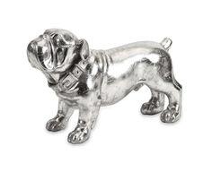 IMAX Maximus Stick Silver Dog Statue