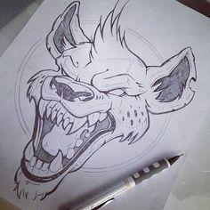 Possessed vicious hyena tattoo design – nicchaado … – – Graffiti World Tattoo Design Drawings, Cool Art Drawings, Art Drawings Sketches, Tattoo Designs, Cartoon Kunst, Cartoon Art, Animal Sketches, Animal Drawings, Hyena Tattoo