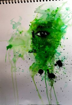 She 4 Watercolour and ink