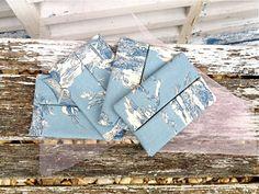 Travel pocket tissue case tissue cover. Toile de jouy by Kirstyflo