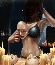 """Surrealism At Perfection"": Haunting Illustrations Of Aykut Aydogdu Creepy Art, Weird Art, Dark Fantasy Art, Dark Art, Fantasy Characters, Female Characters, Album Cover, Arte Cyberpunk, Arte Obscura"