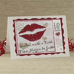Show your special someone just how much you care with the Sealed With A Kiss Personalized Greeting Card. Find the best personalized Valentine's Day gifts at PersonalizationMall.com