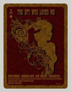 """""""The Spy Who Loved Me"""" by David O'Daniel. 20"""" x 26"""" Screenprint. Ed of 350 S/N."""