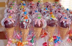 cake pops gebruikt als ijsje