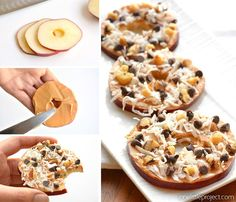 These apple slice cookies taste AMAZING! They're easy to throw together, super healthy and will actually keep you full. The perfect afternoon snack! Yum!