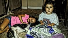 Adrianna, Lily and baby Mischief