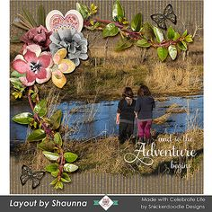 Gorgeous new Collection - Celebrate Life by #SnickerdoodleDesigns  #digitalscrapbookingstudio #digitalscrapbooking #CTHS On sale until Jan. 20th.  Layout 2 by Shaunna  The girls are always looking for the next grand adventure somewhere on the farm.