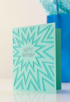 Explosion Happy Birthday Card. Make It Now in Cricut Design Space