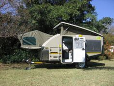 Here is as popup and popout style off-road trailer by Echo4x4 called a Kavango