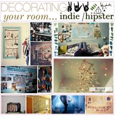 """""""Indie/Hipster Room Decorating! ▲"""" by hipstertipsters on Polyvore"""