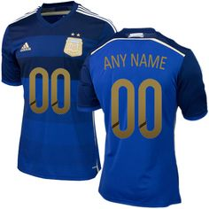 2015 Copa America Argentina Any Name Number Away Soccer Jersey