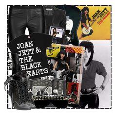 """JOAN JETT"" by boyslikegirls2 ❤ liked on Polyvore featuring Guide London, Clu, Preen, Helmut Lang, Mattel, HTC, Diane Von Furstenberg, Balmain, grunge and joan jett"