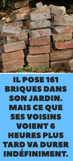 Il pose 161 briques dans son jardin. Mais ce que ses voisins voient 6 heures plus tard va durer indéfiniment.
