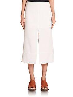 Chloé Crepe Slit Skirt - Milk - Size 38 (6)