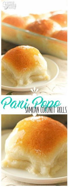 Pani Popo is of my favorite Pacific-Island dishes from my bakery days in Hawaii. It is basically a Samoan sweet roll baked in a delicious coconut sauce.