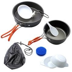 LEAGY Portable Camping Cookware Backpacking Cooking Picnic Bowl Pot Pan 8pcs Set. Pot, Frying Pan, Spoon, Ladle, Bowl - Two People Camping Cutlery (2 Person Camping Cookware) - check it out at... http://backpackingandcampingessentials.com/backpacking-cookware/leagy-portable-camping-cookware-backpacking-cooking-picnic-bowl-pot-pan-8pcs-set-pot-frying-pan-spoon-ladle-bowl-two-people-camping-cutlery-2-person-camping-cookware/
