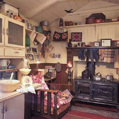Shed interior, Rhyd-y-car house Museum of Welsh Life - I grew up very near to the original setting of this house! Garden Shed Interiors, Cottage Interiors, Rustic Interiors, Welsh Cottage, Cozy Cottage, Rustic Cottage, Vive Le Vent, Cottage Kitchens, Vintage Kitchen
