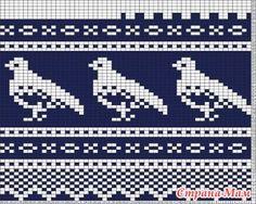 * Подборка схем с различными птичками - Жаккард - Страна Мам