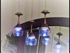 "Dollar Tree DIY ""Highend Dupe"" Modern Farmhouse Chic Wine Glass Chandelier - YouTube"