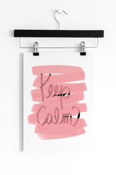 Keep Calm, Pink Typography Print Typography Prints, Etsy Seller, Calm, Graphic Design, Art Prints, Pink, Poster, Art Impressions, Fine Art Prints