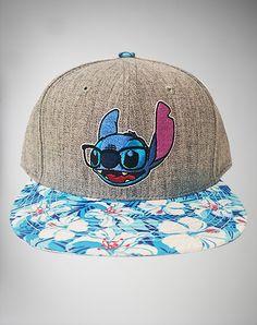 Blue Stitch Floral Snapback Hat