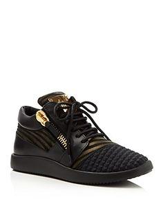 Giuseppe Zanotti Single G Lace Up Sneakers