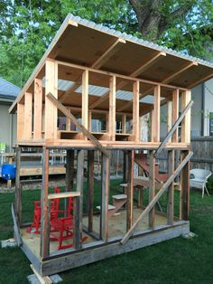 Shed with loft, shed to tiny house, tiny house plans, backyard offi Shed With Loft, Shed To Tiny House, Tiny House Cabin, Tiny House Plans, Tiny House Design, Diy Storage Shed, Diy Shed, Backyard Sheds, Outdoor Sheds