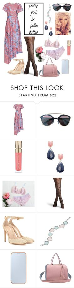 """""""cotton candy polka dots"""" by nmnightmarex ❤ liked on Polyvore featuring Jonathan Saunders, Christian Dior, Smith & Cult, Rina Limor, Gianvito Rossi and Samsung"""