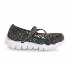 Sweet as can be, this crochet cutie keeps your little girl on her toes. #girls #kids #cute #shoes #skechers