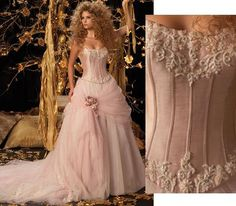 victorian wedding dress - stunning!  just not in pink